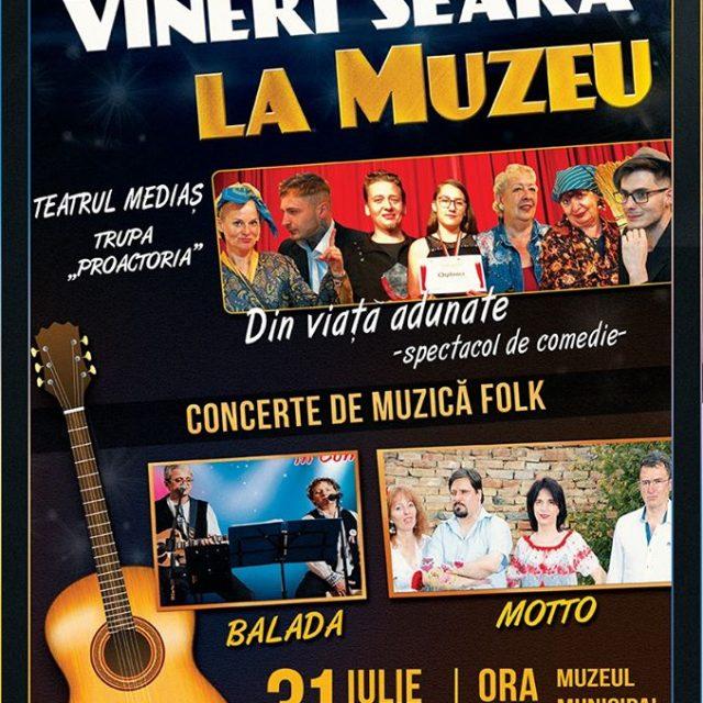Teatru de comedie și muzică folk vineri seară la muzeu