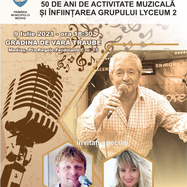 Concert aniversar cu Vasile Pădure la Grădina de vară Traube