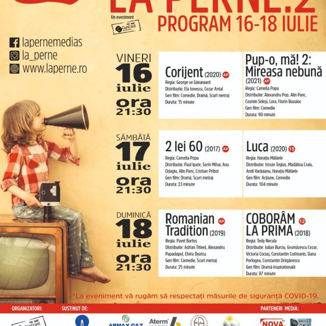 "Festivalul de film ""La Perne.2"" – 16-18 Iulie 2021"