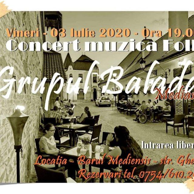 "Grupul ""Balada"" concertează vineri la barul Mediensis"