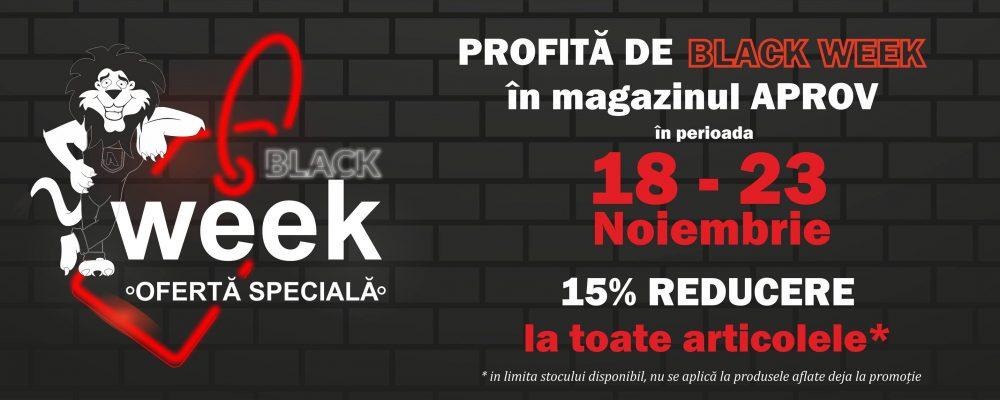 Black Week la Aprov Construcții! Super reduceri la toate produsele din magazin