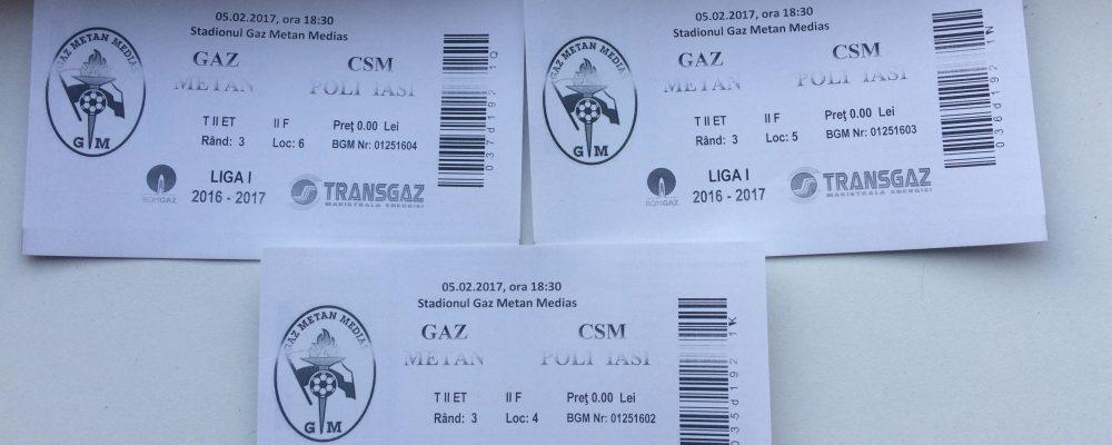 Castiga o invitatie la Gaz Metan – CSMS Iasi