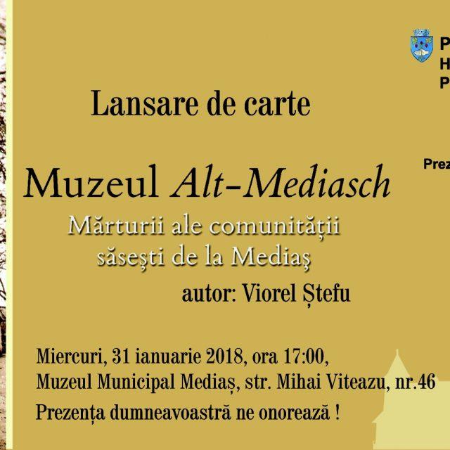 Lansare carte – Muzeul Alt-Mediasch – Viorel Stefu – 31 Ianuarie