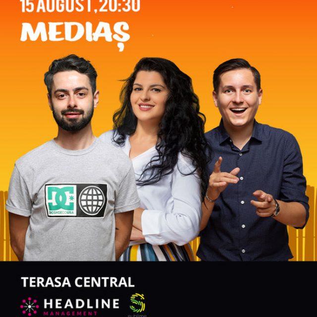 Stand up comedy la #Mediaș cu Bucălae, Tănase și State
