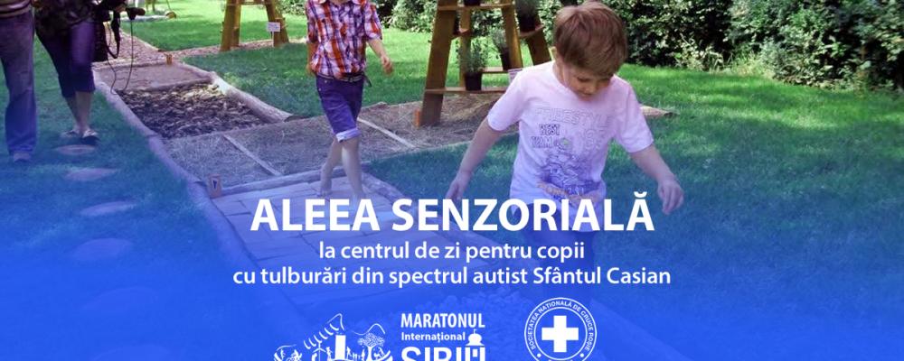 Aleea Senzorială de la Asociația Sfântul Casian e pregătită pentru plimbări terapeutice!