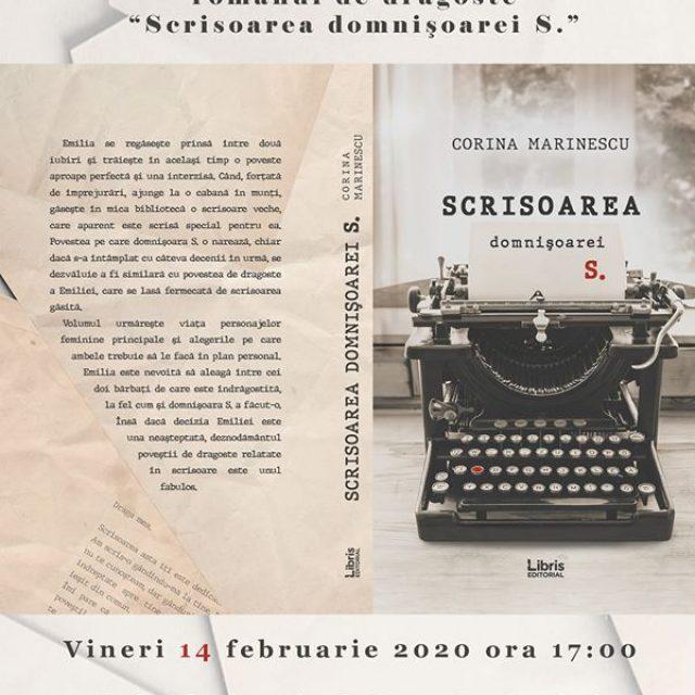 """Corina Marinescu lansează """"Scrisoarea domnișoarei S"""""""