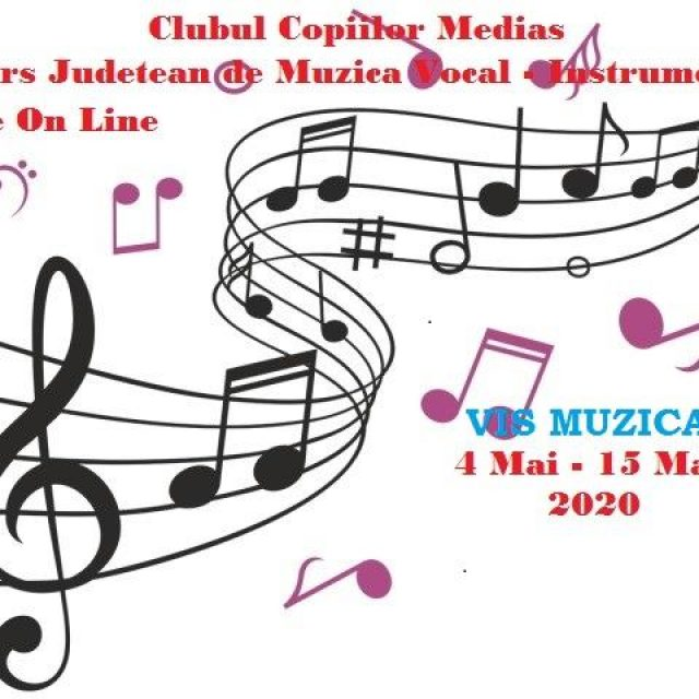 Concurs județean de muzică vocal instrumental desfășurat online