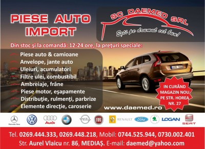 Daemed – piese auto import