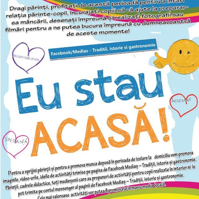 """Campania """"Eu stau acasă"""" desfășurată la #Mediaș"""