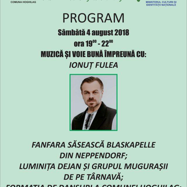 Sarbatoarea Tuberozelor din Hoghilag – 4-5 August 2018