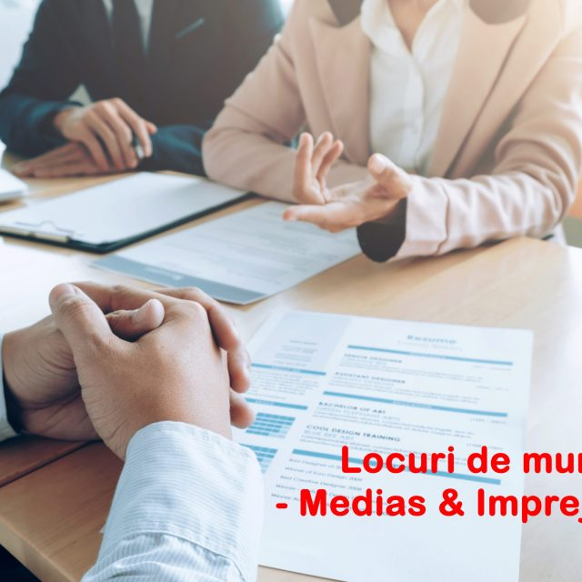 Vezi lista locurilor de muncă disponibile în #Mediaș și împrejurimi